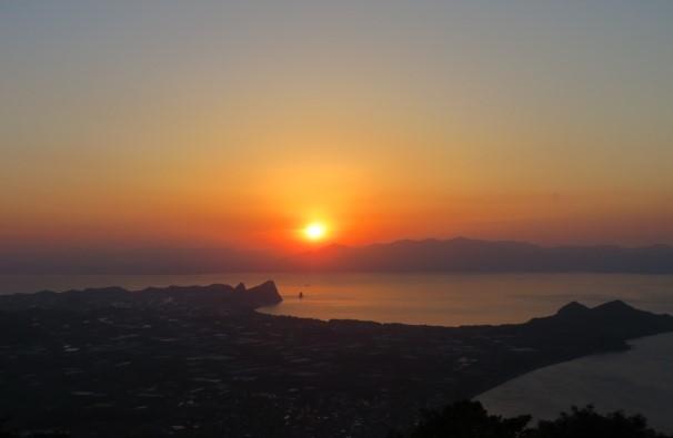 鹿児島から見た夕日